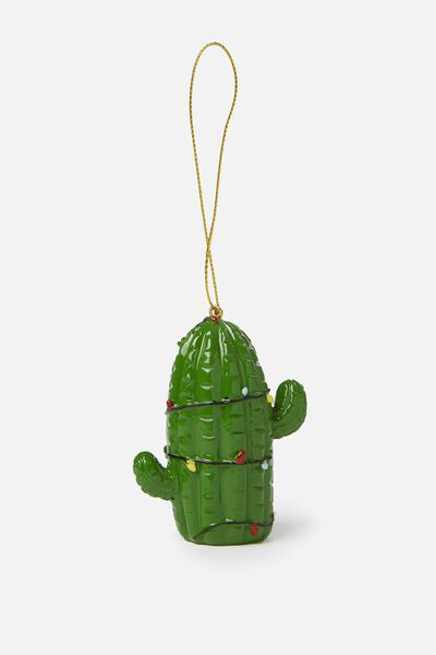 Christmas Ornament, CACTUS IN LIGHTS