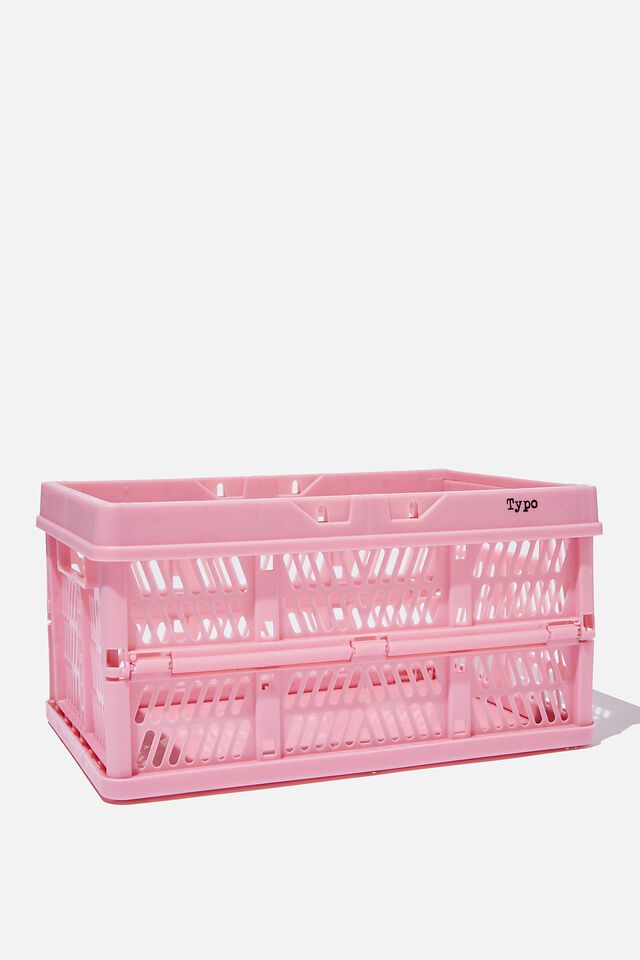 Small Foldable Storage Crate, MAUVE AMETHYST
