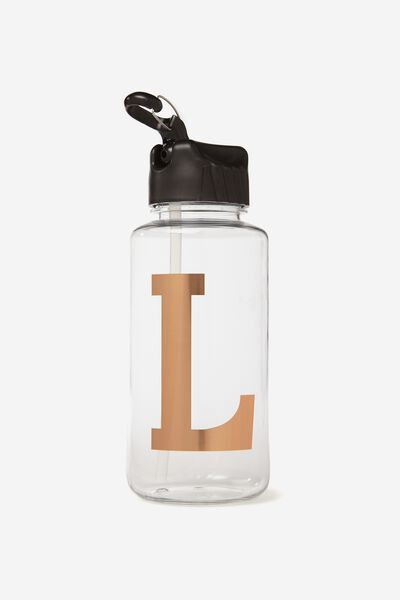 Alphabet Drink Bottle, ROSE GOLD L