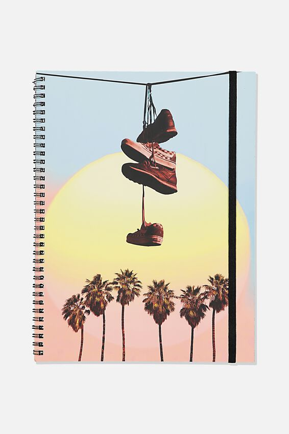 A4 Spinout Notebook Recycled, TBAR PALM SNEAKER