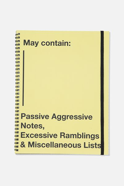 A4 Spinout Notebook Recycled, MAY CONTAIN