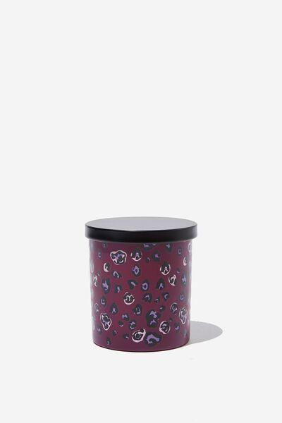 Premium Candle, PURPLE LEOPARD