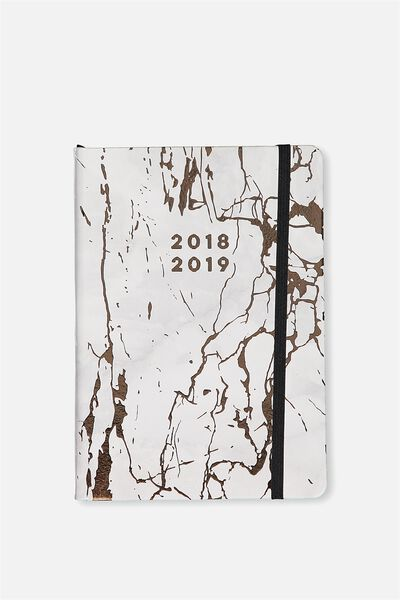 2018 19 A5 Medium Daily Buffalo Diary, MARBLE