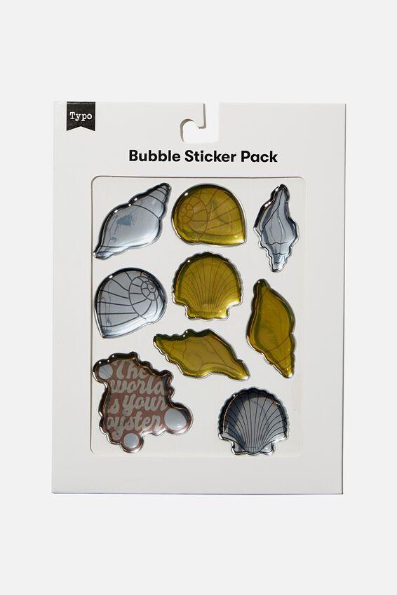 Bubble Sticker Pack, SHELLS