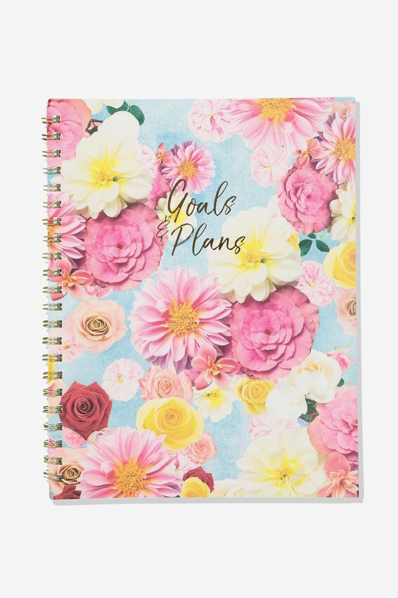 A4 Campus Notebook - Rec, FLOATING FLORAL