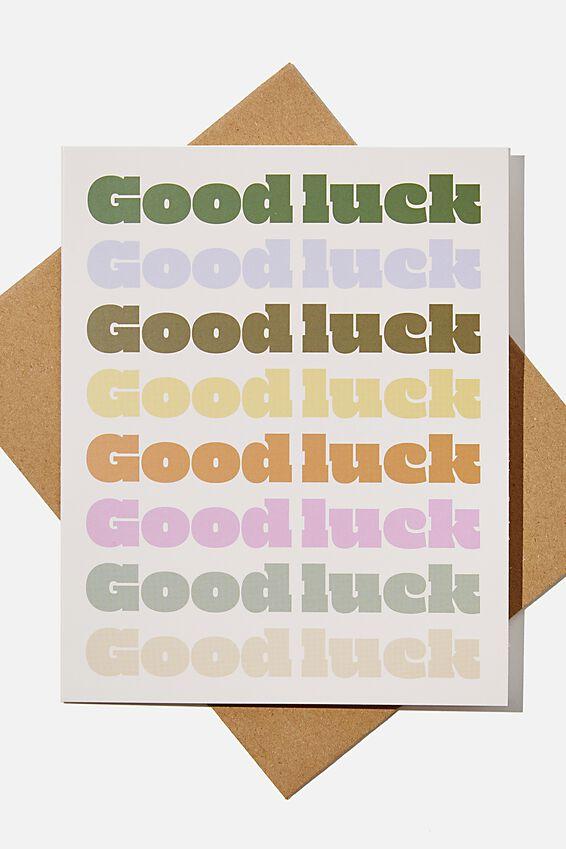 Good Luck Card, GOOD LUCK RAINBOW REPEAT