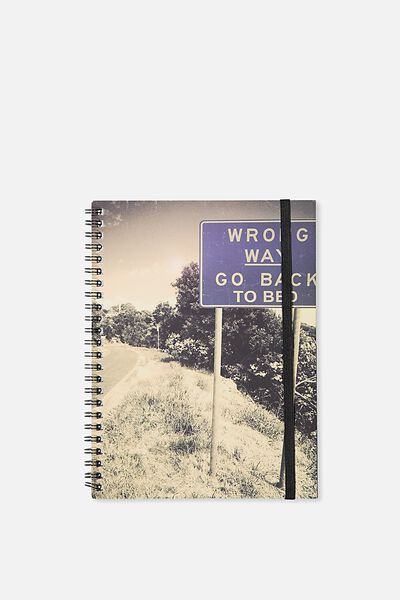 A5 Spinout Notebook - 120 Pages, WRONG WAY GO BACK