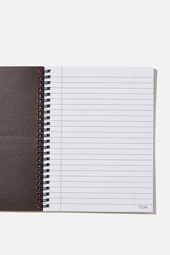 A5 Spinout Notebook Recycled, RG SA KIEF ORANGE
