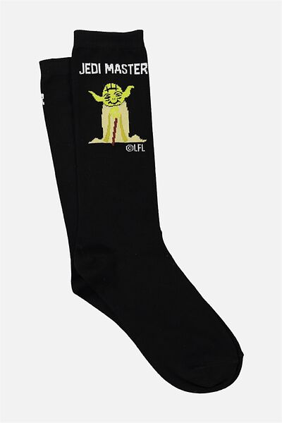 Mens Novelty Socks, LCN JEDI MASTER