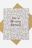 Nice Birthday Card, AMAZING BIRTHDAY GOLD POLKA