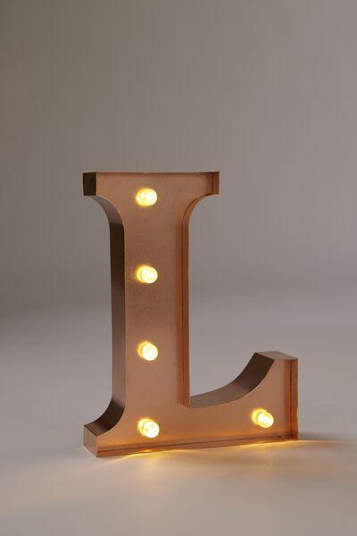 "Marquee Letter Lights Premium 6.3"" Midi, ROSE GOLD L"