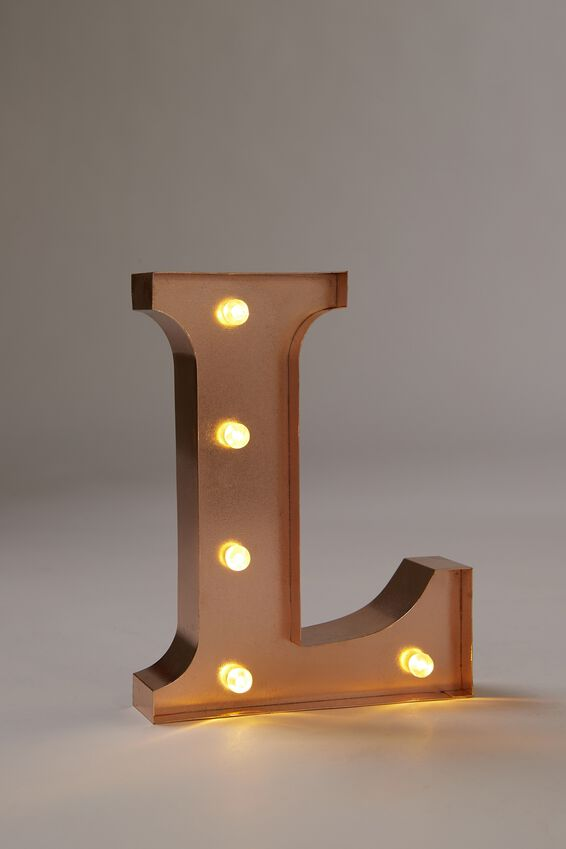 "Marquee Letter Lights Premium 6.3"" Midi, ROSE GOLD L"