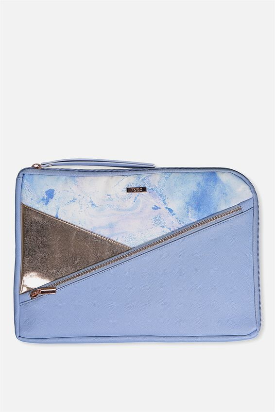 Premium Laptop Case 13 inch, BLUE MARBLE