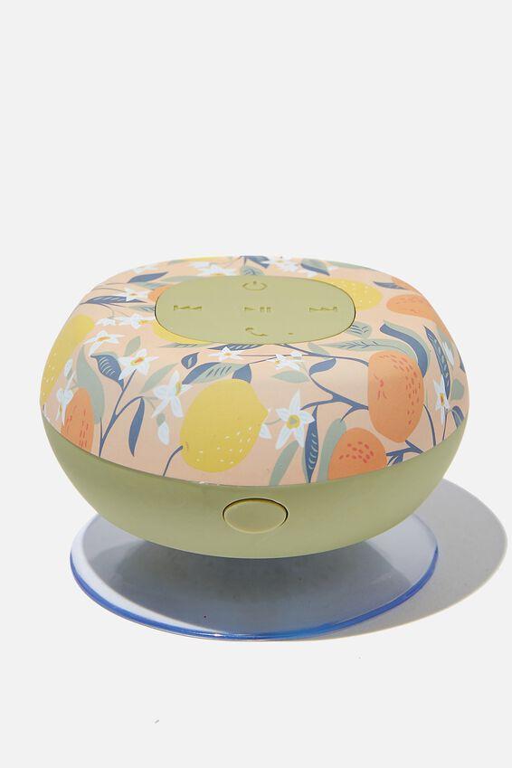 Wireless Shower Speaker, LEMON & CLEMENTINE 2.0