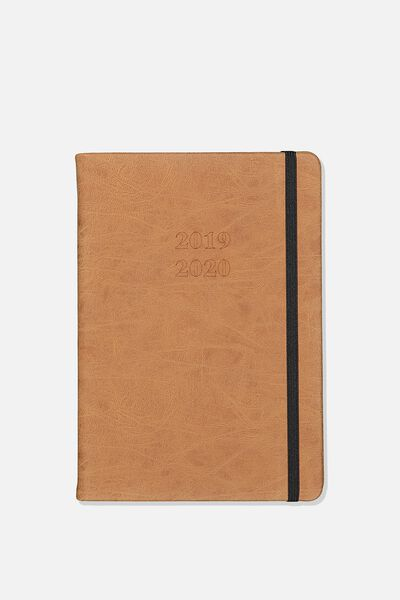 "2019 20 A5 Weekly Buffalo Diary (8.27"" x 5.83""), TAN"