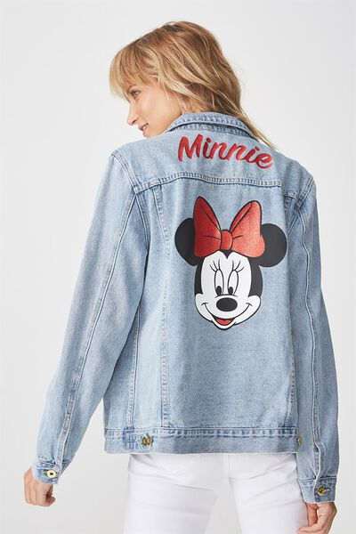 Typo Denim Jacket, LCN MINNE MOUSE