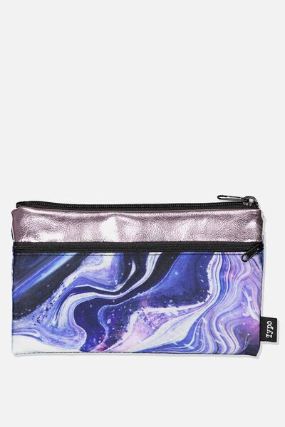 Archer Pencil Case, MOON CHILD MARBLE