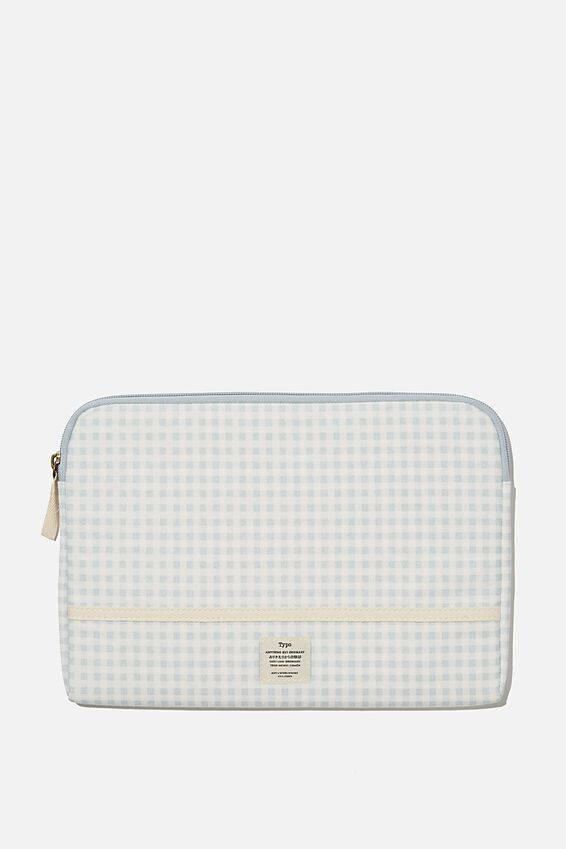 Take Me Away 11 Laptop Case, GINGHAM HYACINTH