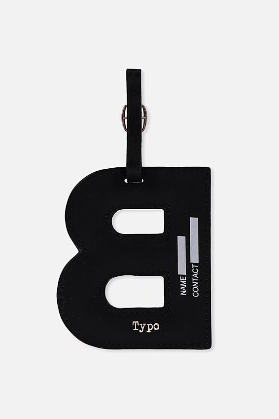 Shaped Alphabet Luggage Tag, B