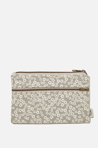 Archer Pencil Case, CHERRY BLOSSOM COOL GREY