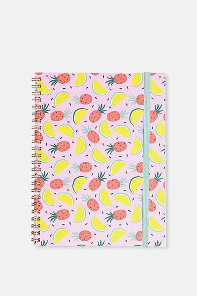 A5 Spinout Notebook - 120 Pages, FEELING FRUITY