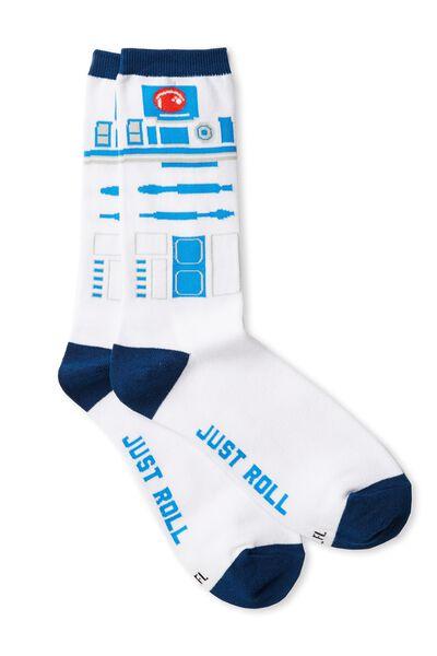 Mens Novelty Socks, LCN R2D2