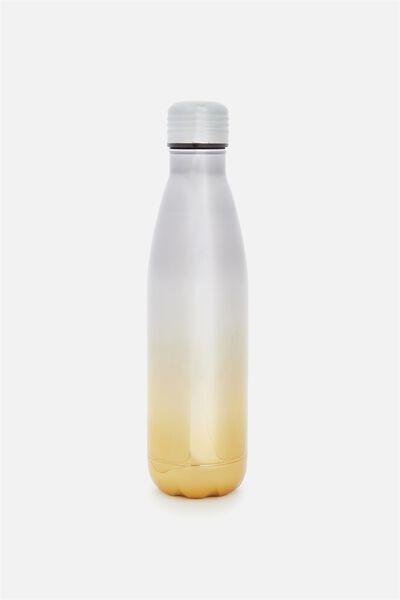 Metal Drink Bottle, GOLD SILVER ELECTROPLATED