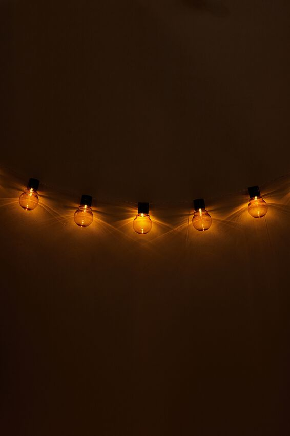 Festoon String Light, AMBER BULBS