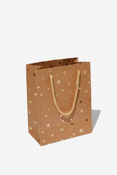 Stuff It Gift Bag - Small, CRAFT GOLD STARS