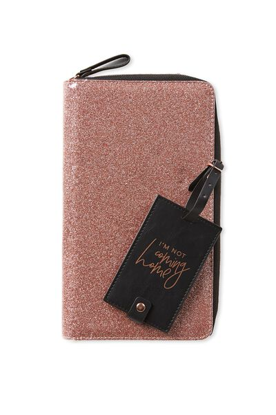 Wanderer Travel Set, ROSE GOLD GLITTER