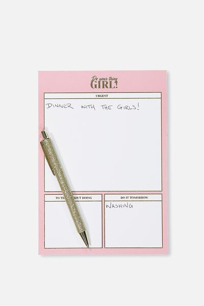 A5 Plan Ahead Planner, PINK DO YOUR THING GIRL