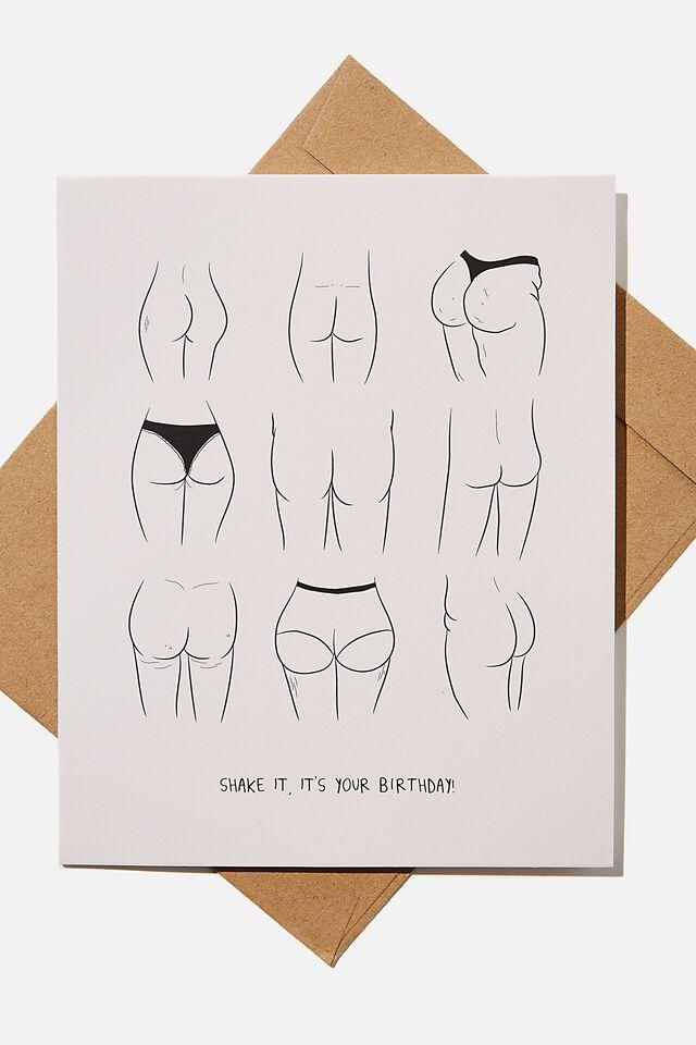 Funny Birthday Card, SHAKE YOUR BUTT BIRTHDAY!