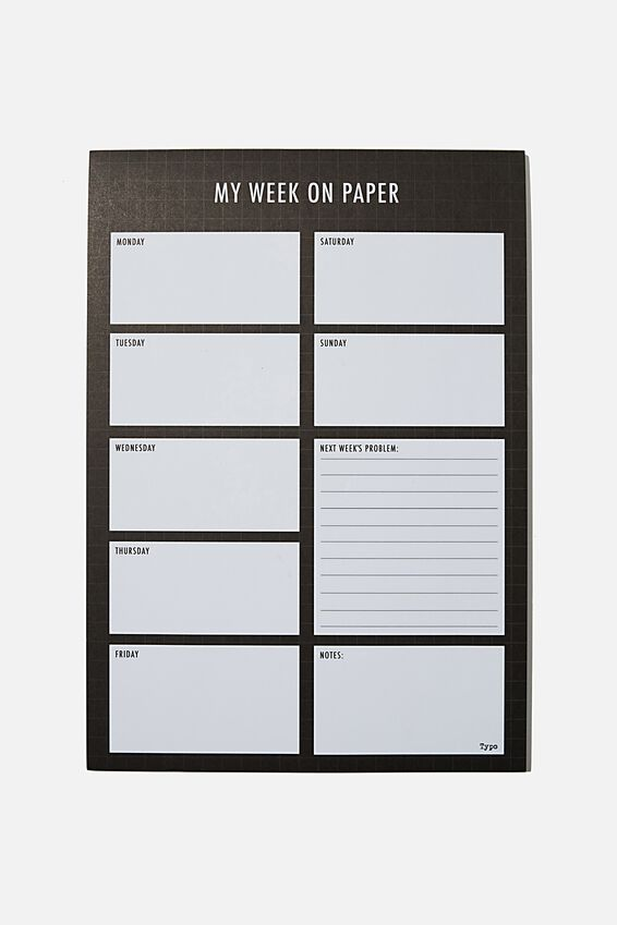 A4 Plan Ahead Planner, MY WEEK ON PAPER