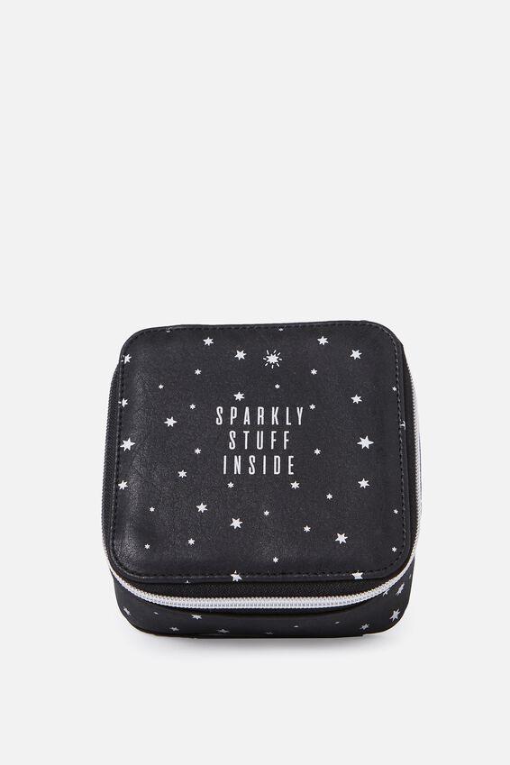 Jewellery Wallet, BLACK STARS