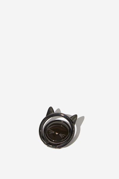Metal Phone Ring, BLACK CAT