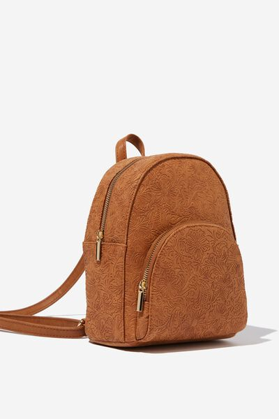 Sunset Mini Backpack, MID TAN TOOLED