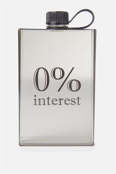 Square Drink Bottle, 0% INTEREST