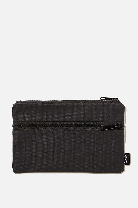 Archer Pencil Case, BLACK CANVAS