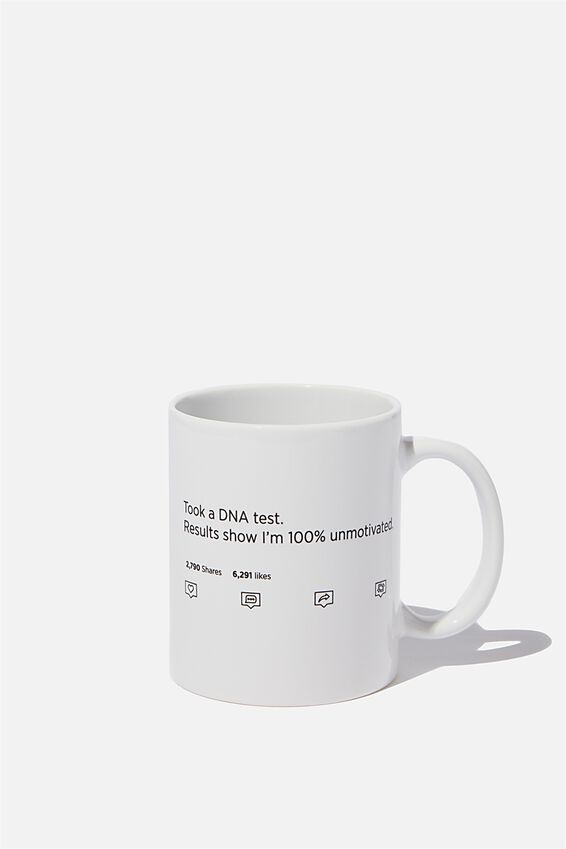 Anytime Mug, DNA TEST