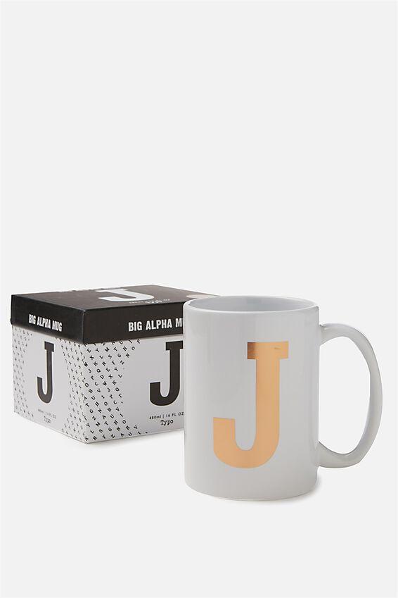 Big Alphabet Mug, ROSE GOLD J