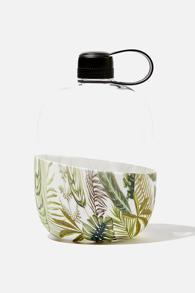 Happy Camper Drink Bottle, STONE FERN FOLIAGE
