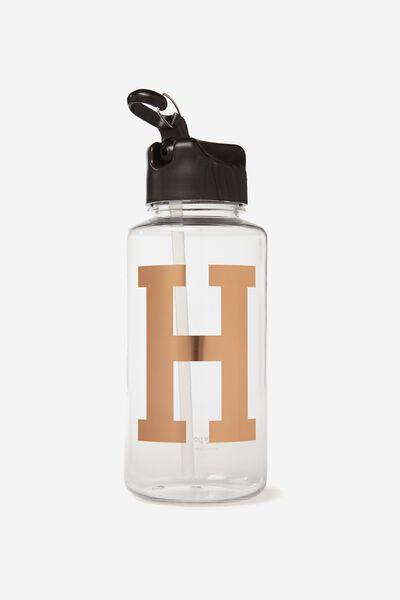 Alphabet Drink Bottle, ROSE GOLD H