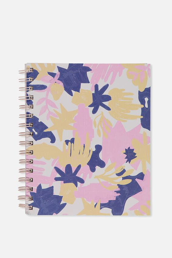 A5 Campus Notebook, HANDPAINTED LEAF
