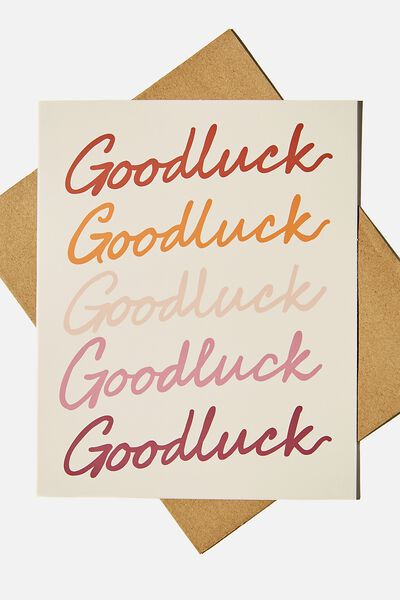 Good Luck Card, GOOD LUCK MULTI REPEAT