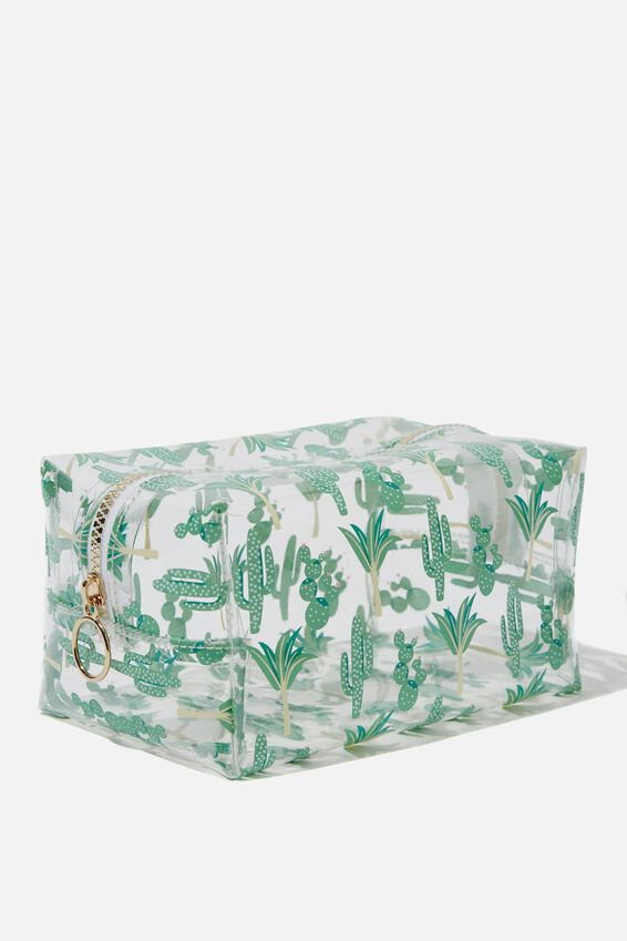 Made Up Cosmetic Bag, CACTUS PRINT