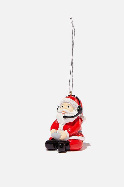 Resin Christmas Ornament, GAMER SANTA