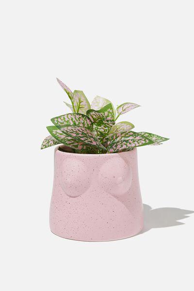 Midi Shaped Planter, PINK BOOBS!