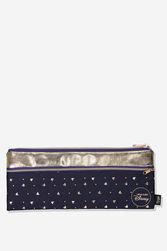 Mickey Mouse Patti Pencil Case, LCN NAVY MICKEY