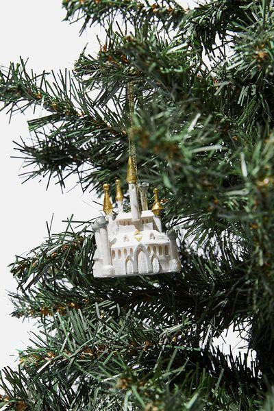 Resin Christmas Ornament, LCN DIS PRINCESS CASTLE
