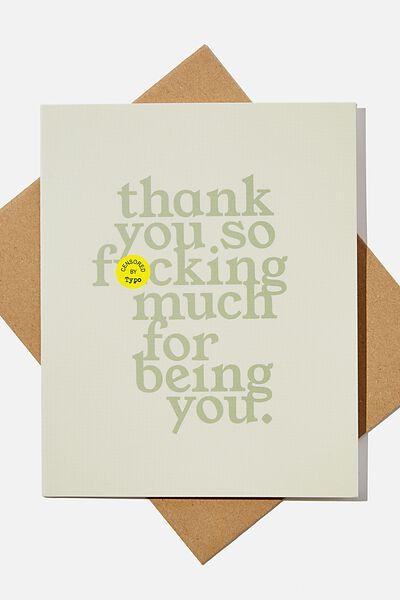 Thank You Card, RG UK THANKYOU SO FCKING MUCH!!